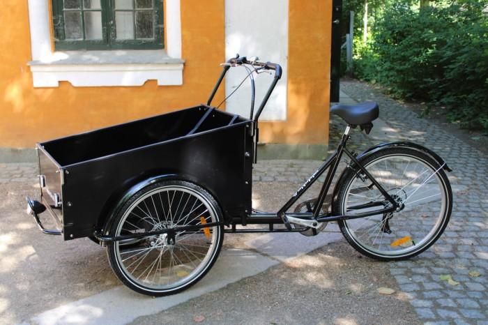 Ladcykel med skive bremser