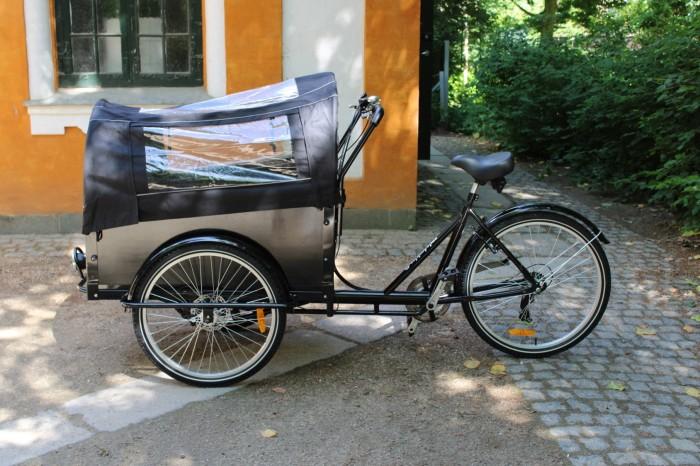 Ladcyklel med skiver bremser og kaleche